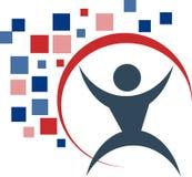 Logotipo dos povos Imagens de Stock