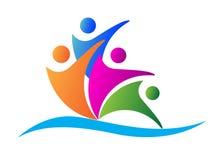 Logotipo dos povos Foto de Stock