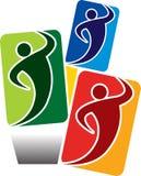 Logotipo dos povos Fotos de Stock Royalty Free