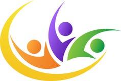 Logotipo dos povos da liberdade ilustração do vetor