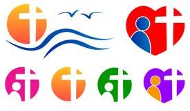 Logotipo dos povos da religião ilustração royalty free