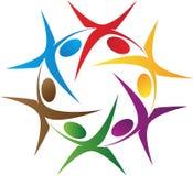 Logotipo dos povos da rotação ilustração royalty free