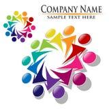Logotipo dos povos da união dos trabalhos de equipa Imagens de Stock Royalty Free