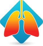 Logotipo dos pulmões ilustração do vetor