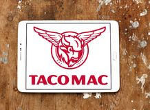 Logotipo dos restaurantes do Mac do taco Fotografia de Stock Royalty Free