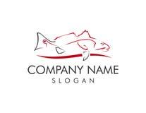 Logotipo dos salmonetess ilustração stock