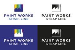 Logotipo dos trabalhos da pintura fotografia de stock