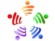 Logotipo dos trabalhos de equipa Fotografia de Stock