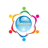 Logotipo dos trabalhos de equipa Imagens de Stock Royalty Free