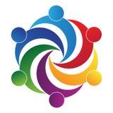 Logotipo dos trabalhos de equipa Foto de Stock