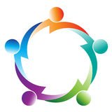 Logotipo dos trabalhos de equipa Foto de Stock Royalty Free