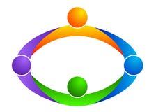 Logotipo dos trabalhos de equipa Imagens de Stock