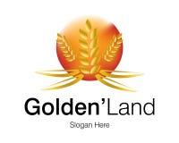 Logotipo dourado da terra Imagem de Stock Royalty Free