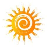 Logotipo dourado de Sun dentro Foto de Stock
