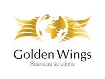 Logotipo dourado do negócio Imagens de Stock Royalty Free