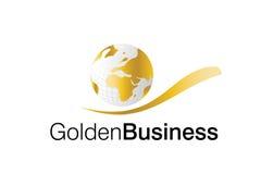 Logotipo dourado do negócio Imagem de Stock