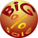 Logotipo e ícone grandes da venda do feriado e da venda dos discontos Imagem de Stock