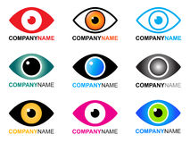 Logotipo e ícones do olho Imagem de Stock