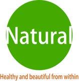 Logotipo e desaign naturais da imagem ilustração royalty free