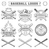 Logotipo e insígnias do basebol do vetor Imagens de Stock
