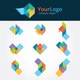 Logotipo e projeto gráfico Fotografia de Stock