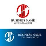 Logotipo económico de las finanzas Imagen de archivo libre de regalías