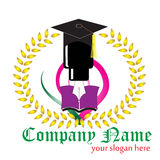 Logotipo educacional fotografia de stock