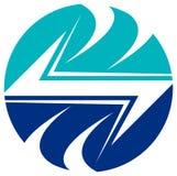 Logotipo elétrico ilustração stock