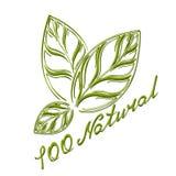 Logotipo el 100% natural Fotografía de archivo libre de regalías