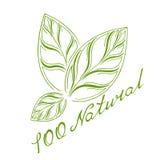 Logotipo el 100% natural Fotos de archivo