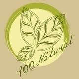 Logotipo el 100% natural Imagen de archivo libre de regalías