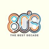 logotipo electrónico del estilo de 80 ` s Fotografía de archivo
