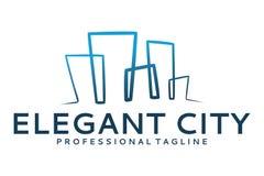 Logotipo elegante da cidade Fotografia de Stock Royalty Free