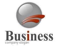 Logotipo elegante do negócio. Fotografia de Stock Royalty Free