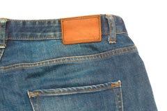 Logotipo em calças de brim Fotos de Stock