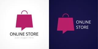 Logotipo em linha das lojas Imagem de Stock Royalty Free