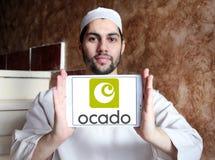 Logotipo em linha do supermercado de Ocado Fotografia de Stock