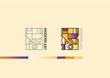 Logotipo en el tema del arte moderno stock de ilustración
