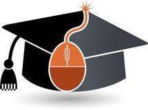 Logotipo en línea de la educación Fotos de archivo libres de regalías