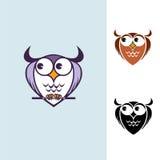 Logotipo engraçado da coruja Foto de Stock Royalty Free