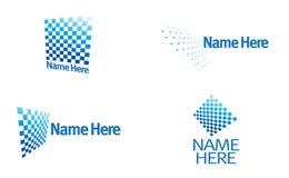 Logotipo - entretenimento, televisão, uma comunicação ilustração stock