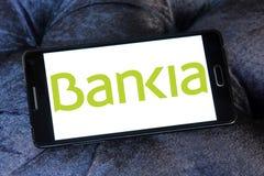 Logotipo español del banco del Bankia Imágenes de archivo libres de regalías