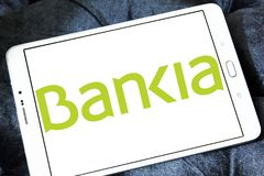Logotipo espanhol do banco do Bankia Foto de Stock Royalty Free