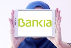 Logotipo espanhol do banco do Bankia Fotos de Stock