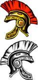 Logotipo espartano/Trojan do capacete ilustração do vetor
