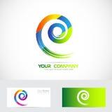 Logotipo espiral do redemoinho Imagens de Stock Royalty Free