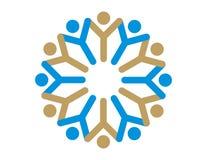 Logotipo - espírito de equipe Fotografia de Stock Royalty Free