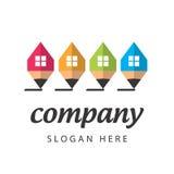 Empresa de construção civil estilizado do logotipo Fotos de Stock