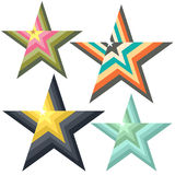 Logotipo estilizado das estrelas Fotografia de Stock