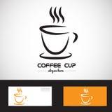 Logotipo estilizado de la taza del coffe Fotos de archivo